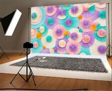 Baby Colorful Paper Flower Photography Backgrounds 5x3ft Vinyl Photo Backdrops