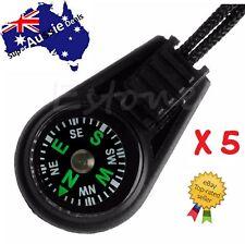 5 x Mini Pocket Portable Outdoor Sport Dial Compass Pointer + Lanyard Strap