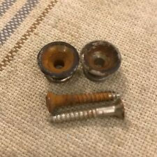 Vintage 1960's Fender Strap Buttons Set-Pair of Two for Tele-Strat Bass Guitar
