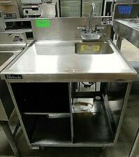 Stainless Steel Bar Sink Cabinet With Lower Shelf Boh 21 020