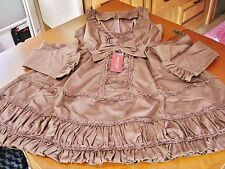 Bodyline Classic Lolita Brown Ladder Lace JSK Dress Size 2L NWT