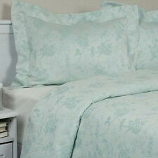 Matelasse Bedspread Coverlet Set King 100 Cotton Green Floral Vintage  Antique