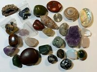 27+ Pieces Crystals Minerals Healing Stones Seashell Collection Lot #SP0229