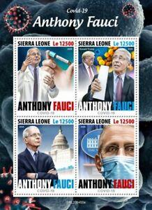 2020/06- SIERRA LEONE - ANTHONY FAUCI COV SARS 2      4V    MNH **