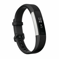 Fitbit ALTA HR Heart Rate Fitness Wristband Black Large