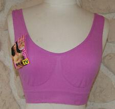 soutien gorge violet/rose sans armature de marque BIXTRA taille L/XL neuf