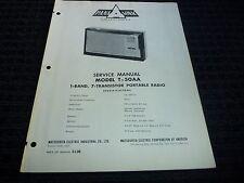 Orig. Panasonic Matsushita Service Manual Model T-50AA Portable Transistor Radio