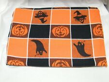 """Halloween Themed Cotton Blanket (17730) 60"""" x 84"""" W/ Pumpkins, Ghosts & Witches"""