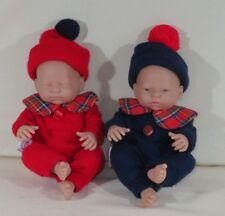 "Berenguer La Newborn Baby Dolls 9"" Girl and Boy Soft Vinyl anatomically correct"