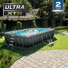 New listing Intex 24Ft X 12Ft X 52In Ultra Frame Rectangular Above Ground Pool Set with Sand