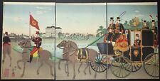 "Inoue YASUJI, dit TANKEI 1864 † 1889  L'Empereur dans une calèche"" 1888"