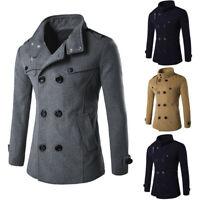 Fashion Men's Winter Warm Overcoat Wool Coat Trench Coat Outwear Long Jacket New