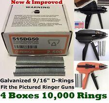 Hog Rings 10,000pcs 9/16 GALV for Stanley Ringer Gun Aviary Net Deer Fence USA