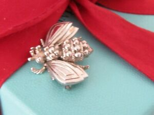 Auth Tiffany & Co Sterling Silver Bee Brooch Pin
