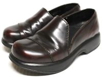Dansko Profession 1803 Women 7.5/8 Nurse Shoes Clogs Leather Dark Cherry Slip On