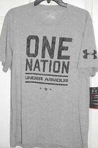 under armour mens charged cotton one nation short sleeve shirt t-shirt pick size