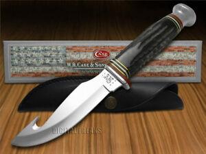 Case xx Fixed Blade Guthook Knife Genuine Buffalo Horn Handle 17914