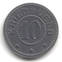 Stralsund-Stadt (Pommern) 10 Pfennig 1917 (Zink) Funck 523.2, fast vz/st