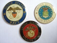 VINTAGE MARINE CORPS AIR FORCE NAVY SEALS US ARMY WAR USA SET PIN BADGE LOT 99p