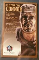 George Connor Pro Football Hall of Fame Autographed Bronze Bust Card 143/150