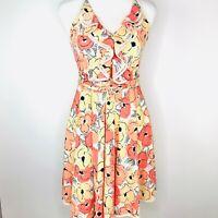 LC Lauren Conrad Womens Dress Size 6 Floral A Line Ruffle Flowy Wedding