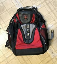 SWISS GEAR /WENGER BACKPACK COMPUTER LAPTOP SHOCK ABSORBING  BLACK  RED