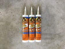 Gorilla Paintable Silicone White Sealant Caulk Waterproof 9 OZ - 3 Tubes