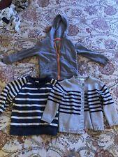 Lot Of Three 3 Toddler Boys 18-24m Sweaters Sweatshirt Cardigan