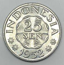1952 Indonesia 25 Sen Coin (G384)