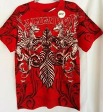 MMA ELITE UFC Mens Red Graphic T Shirt Salvation Mixed Martial Arts Fighter NWT