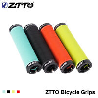 1 Pair MTB Bike Handlebar Grips Resin Non-slip Double Lock For Outdoor Cycling