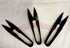 Qty 3 New Sewing Thread Nippers Clippers Snippers Black Trimming Scissors