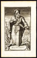 Antique Portrait Print-MACEDONIUS I OF CONSTANTINOPLE-Arnold-de Hooghe-1701