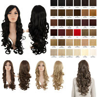 High Quality Extra Long 24'' Curly Full Head Wig Loose Curls Weave Hair Piece