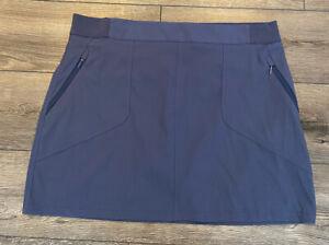 Women's Columbia Omni Shield Skirt Skort Athletic Hiking Blue Size 1X