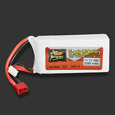 BATTERIA LIPO ZOP Power 11,1V 2200mAh 3S 25C Lipo Battery T PLUG