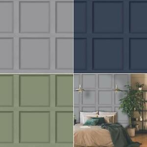 Holden Decor Modern Wood Panel 3D Effect Wooden Panelling Wallpaper Feature Wall