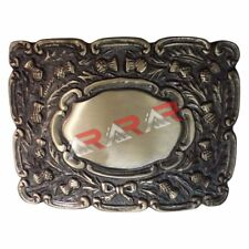 AAR Scottish Highland Piper Thistle Design Kilt Belt Buckle Antique Finish