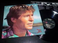 """John Denver """"Higher Ground"""" LP inner Usa 1988"""