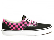 VANS AUTHENTIC BLACK PINK CHECK SIZE 8 SNEAKERS TRAINERS  SHOES LOW TOP NEW