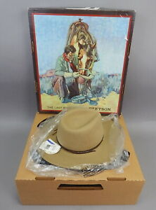 New Mens Stetson Mountain View Wool Felt Western Crushable Hat Sand Small 6.75