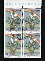 francobollo repubblica italiana 1995 Pro alluvionati quartina nuova primo giorno