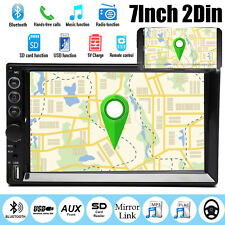 7inch 2DIN Car MP5 Player Bluetooth HD Touch Stereo Mirror For GPS Navi TF Radio