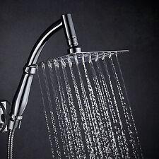 """MODERNO 8 """" acciaio inox regolabile quadrato Pioggia Soffione doccia & Braccio"""