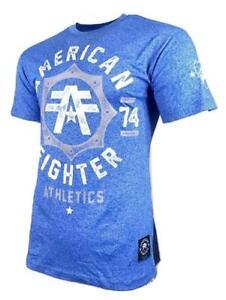 AMERICAN FIGHTER NORTH CAROLINA MARBLE Men's T-Shirt Blue