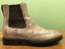 TOD'S Wingtip Chelsea Boots Men's Size UK 8 US 9 Made In Italy