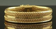 LUXURIOUS ~ THICK ~ HEAVY SIGNED ITALIAN 18K 750 SOLID YELLOW GOLD BRACELET WOW!