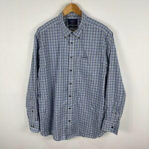 Charles Tyrwhitt Mens Button Up Shirt XL Multicolored Plaid Long Sleeve Collared