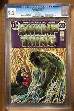 Swamp Thing #1 CGC 9.2 W. Bernie Wrightson. 1st Matt Cable, Alec & Linda Holland