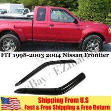 For 1998-2004 Nissan Frontier Smoke Window Vent Visor Wind Rain Deflector 2PCS